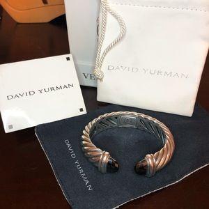 David Yurman Hematite cable bracelet